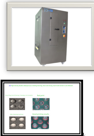 Low-discharge ultrasonic stencil cleaner /filters and reuses wash solution Stencil Cleaners