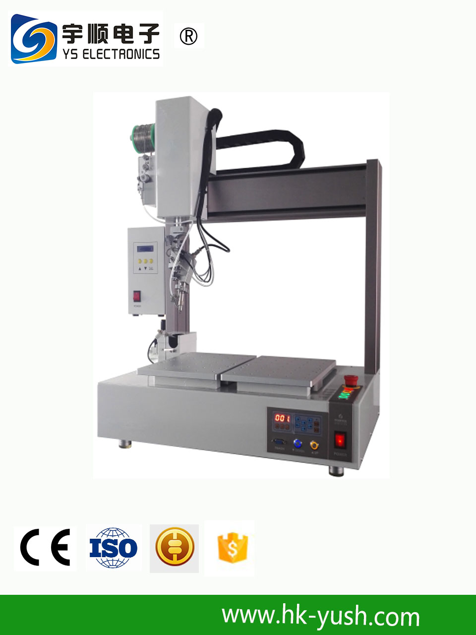 6 axis Desktop Automatic Solder welding Machine and robot with the function of spot welding and drag soldering China Manufacters