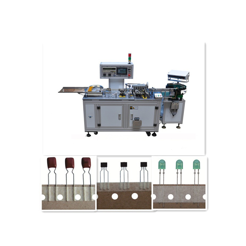 film capacitor,led,resistor lead and leg cutting and bending tape packing machine YS 320A CE certificated